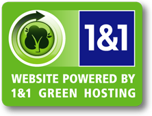 Hosted by 1&1 Green Hosting